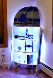 Shelf Woodworking Plans by Star Wars R2 D2 Four Shelf Corner Case Cabinet Woodworking Plans