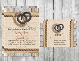 Printable Wedding Invitation Horse Shoe And Rope