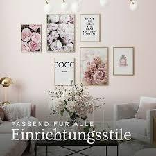 heimlich premium poster set 6er coco wohnzimmer deko rosa