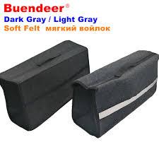 New Buendeer Dark / Light Gray Felt Car Trunk Organizer Folding ...