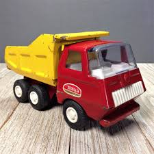 100 Vintage Tonka Truck Tiny Dump 535 Red Yellow 5 Pressed