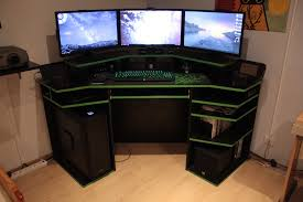 Furniture: Choose Your Best Wooden Gaming Desk To Match Your ...