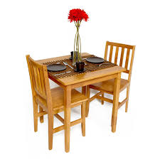 brown lacquer solid wood drop leaves dining table two