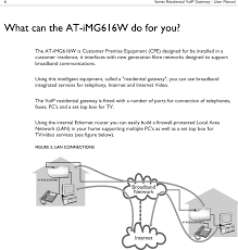 IMG616W Multiservice Gateway User Manual 613-001033_B Allied ...