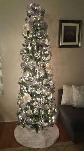 Silver Tip Christmas Tree Los Angeles by Best 25 Slim Christmas Tree Ideas On Pinterest Pencil Christmas