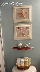 Coastal Bathroom Wall Decor by Diy Beach Bathroom Decor Home Design Ideas