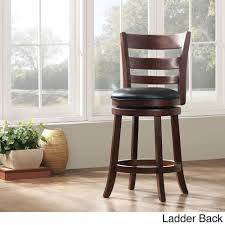 Tribecca Home Verona Cherry Swivel 24-inch Counter Height Stool ... Millennium Porter Counter Height Xback Upholstered Swivel Barstool Weston Home Ohana Chair Black Oak Set Of 2 Winners Only Daphne 78 Solid Birch Ding Table Saddle Seat Bar Stool In Cherry With 24 Inch Room Cayden Dark Gray Fabric Coaster Sofie 120519 By How To Choose The Right Heights For Your Kitchen Shop And Sets Wolf Fniture Stanton Value City Round With Microsuede Comfy Pier One Stools Making Remarkable Sale Fnitures Prices Brands Review In