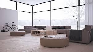 niedrige möbeln in beige in einem minimalistischen