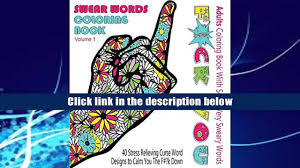 PDF Swear Word Coloring Book Adults With Some Very Sweary Words 41 Stress