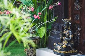 100 Ubud Garden Black And Gold Statuette Of A Hindu Deity In In Bali