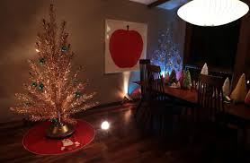 New Rotating Color Wheel For Christmas Tree by Vintage Aluminum Christmas Trees Make The Holidays Bright In