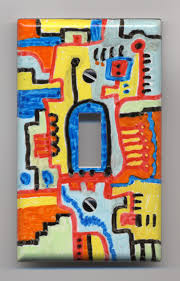 Abstract Painting on Leviton Light Switch Cover