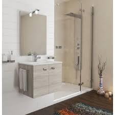 badezimmer badmöbel 60 cm aus eiche grau holz mit keramik waschtisch