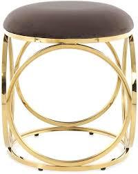 hocker chrome gold rund modern sitzhocker wohnzimmer