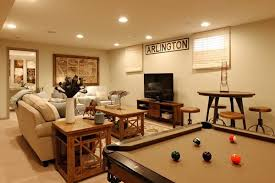 small basement ideas family room pool table sofa wooden side