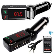 Car Bluetooth Kit Music Player FM Transmitter Wireless for Car MP3