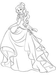 Giselle Deluxe Gown Lineart By LadyAmber On DeviantArt