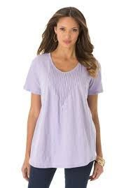 online shop 4xl 10xl large size pintuck knit cotton tunic tee top