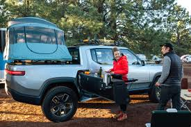 100 Truck Bed Motorcycle Lift Rivian Electric Gets An Overlanding Camper Makeover
