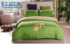 Spongebob Bedroom Set by Cartoon Spongebob Queen Bed Sheets Kids Pink Duvet Cover Set