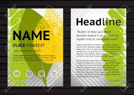 Vector A4 Size Nature Poster Design Template Two Banners With Colorful Leaves And Sample Text