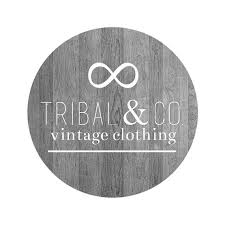 Premade Circle Logo Tribal Wooden Background Rustic