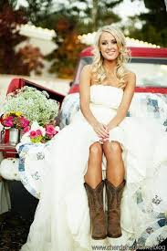 Fresh High Low Wedding Dresses With Cowboy Boots 48 For Your Casual