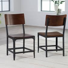 Rustic Metal Dining Chairs Kitchen And 41 Awesome Black 17