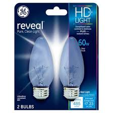 ge reveal 60 watt ceiling fan incandescent light bulb 2 pack