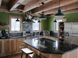 Awe Inspiring Rustic Kitchen Island Light Fixtures With Backless Wooden Bar Stools Also Matte Black