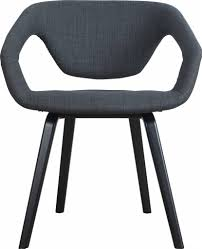 zuiver esszimmerstuhl flexback schwarz dunkelgrau 64x57x78cm