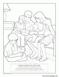 My Family Can Follow Jesus Christ In Faith Coloring Pages