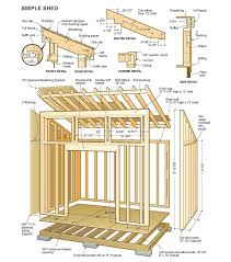10x14 Garden Shed Plans by Free Shed Plans Building Shed Easier With Free Shed Plans My Wood