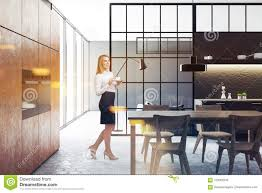 Blonde Woman In Black Kitchen And Dining Room Stock Photo - Image Of ... Drexel Heritage Compatibles Blonde Wood Ding Room Set Table Etsy Ercol Vintage Mid Century Blonde Drop Leaf Ding Table And Four Antiques Atlas Vintage Ercol And Four Quaker Chairs Bari Suite With Chairs Simpli Home Draper 7piece 6 Upholstered Dts08 Golden Extending W Padding Beautiful Chic Fniture Interappcom Mid Farmhouse Country Style Farmhouse 4 Woman In Black Kitchen Stock Photo Image Of Ercol Windsor Drop Leaf Matching Hoop Back Painted Century Modern