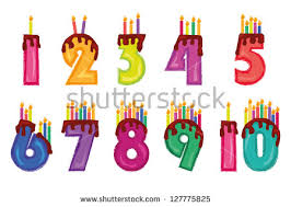 Candles colorful numeral candles isolated on white background Birthday set