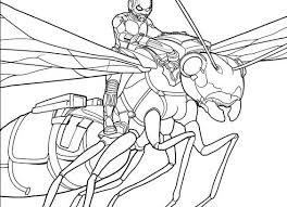 AntMan Coloring Lesson Pages For Kids