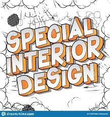 100 Words For Interior Design Special Comic Book Style Stock