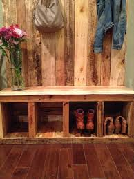 Rustic Entryway Benches Pallet Bench Storage Pallets