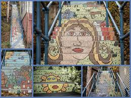16th Ave Tiled Steps Project by Oakley Street Mosaic Steps Public Art Project South Side Slopes