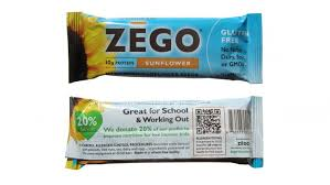 Zego Leverages An Interactive Quick Response Code To Inform Consumers Of The Energy Bars Allergen Content At Batch Level