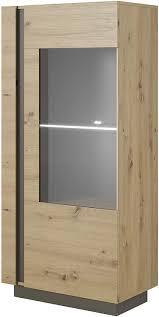 modern vitrine für wohnzimmer skandinavisch mit glastüren