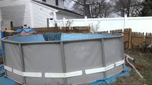 Intex Pool Installation Tips: Leveling Ground And Winter Ice - YouTube View From The Deck Of Above Ground Pool Lowered 24 Below Backyards Appealing Backyard Vineyard Design Images With Stunning How To Find Level When Installing A Round Intex Metal Southview Outdoor Living Make Room For Swimming Pool 009761474jpeg Should I My Home To Level Ground For Above University Ideas Drain Gallery Ipirations Leveling Pictures Breathtaking
