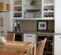 Wood Pallet Wine Rack Dining Room Transitional With Refigerator White Cabinets Storage