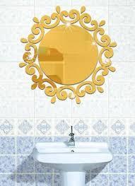 diy acryl solide spiegel wandaufkleber badezimmer veranda
