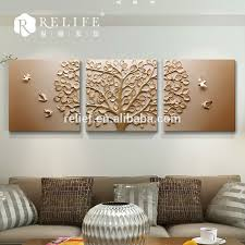 Resin Relief Art Flower Painting Frame Canvas For Print Wall