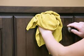 removing greasy grime on kitchen cabinets