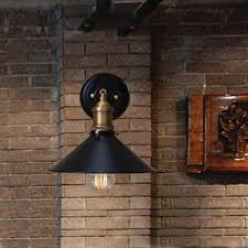 vintage loft single black wall ls restaurant industrial