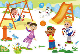 Jpg Royalty Free Stock Schoolyard Child Clip Art Cartoon Children Play