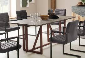 home affaire esstisch beton aus schönem massiven mangoholz tischplatte im beton optik look breite 180 cm