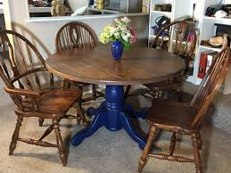 Refinished Solid Oak Farmhouse Table With 6 Chairs. 2 Leaf ... Refinished Solid Oak Farmhouse Table With 6 Chairs 2 Leaf Ding Fniture In A Range Of Styles Ireland Dfs Rugs 101 The Best Size For Your Room Rug Home 30 Decorating Ideas Pictures Of Inviting Blue Lamb Furnishings Round Vintage Dropleaf Table Total Kenosha Wi Lets Settle This Do Belong In Kitchen Amish Sets